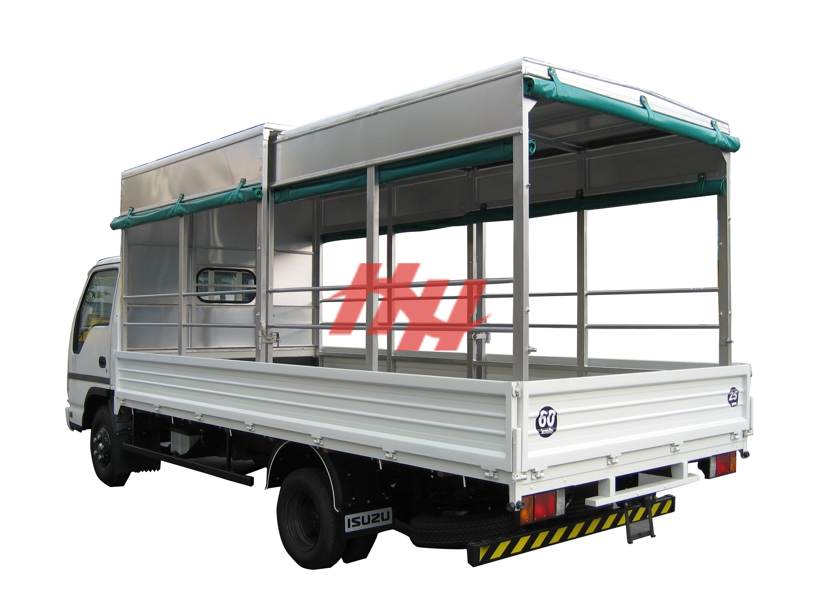1steel body  high roof retractable canopy with roll down canvas and side pannel edit