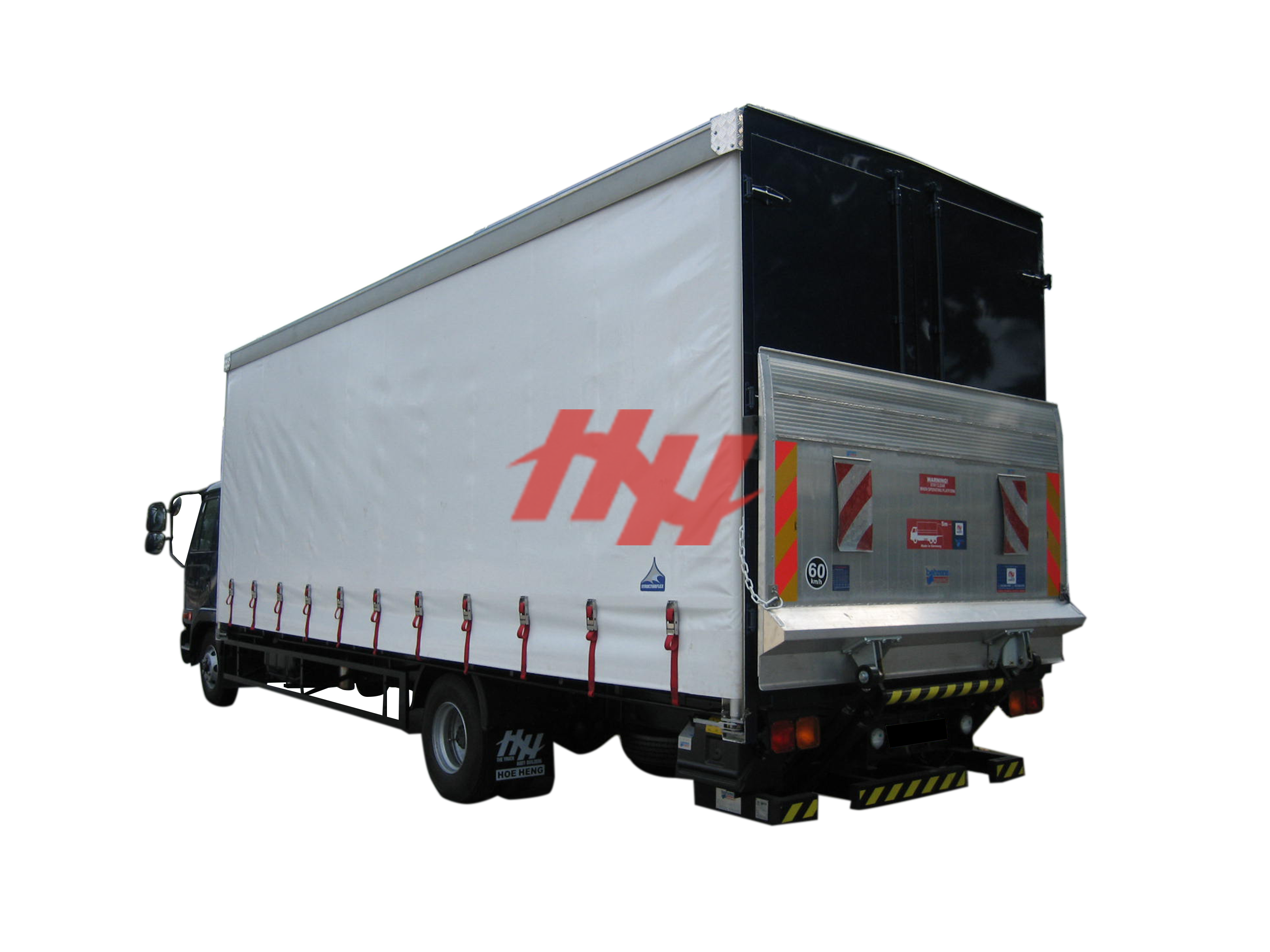 Curtainsider canopy and rear door with container door lock system and rear tailgates %281%29 edit