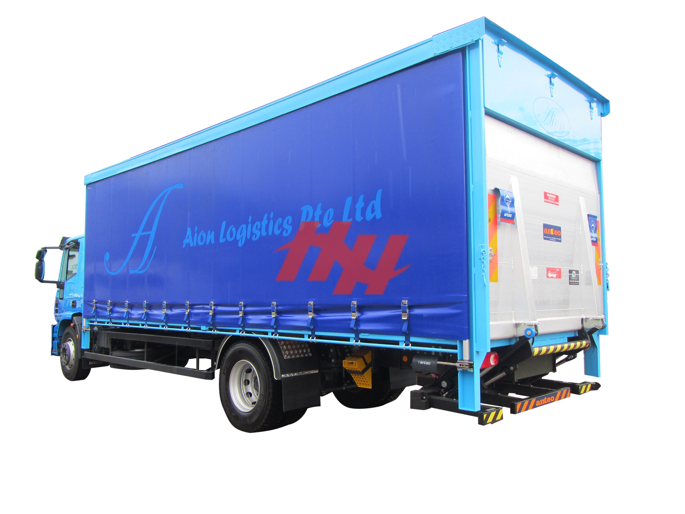 Curtainsider canopy with rear recess tailgate and swing up door %281%29 edit