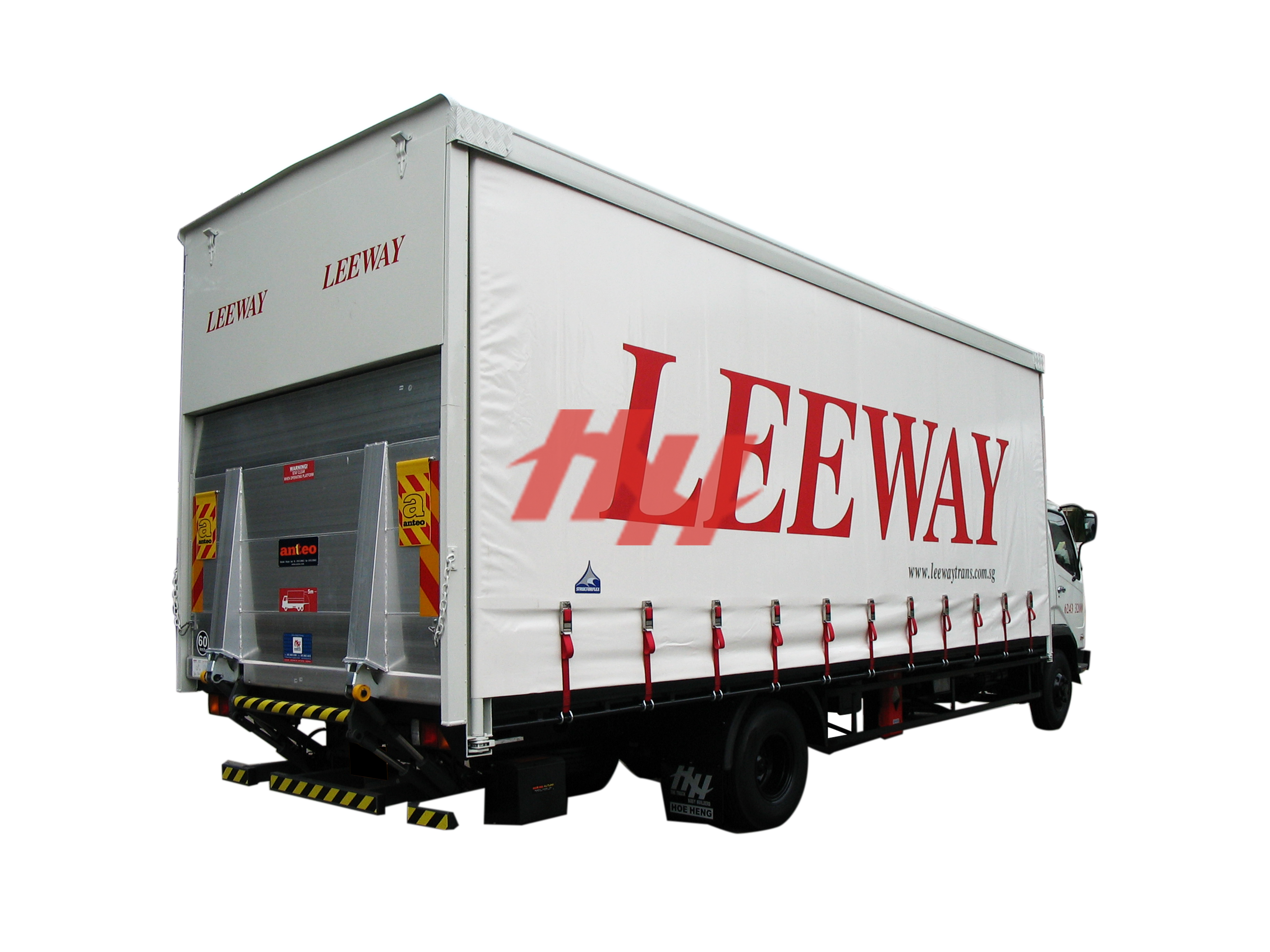 Curtainsider canopy with rear recess tailgate and swing up door %283%29 edit