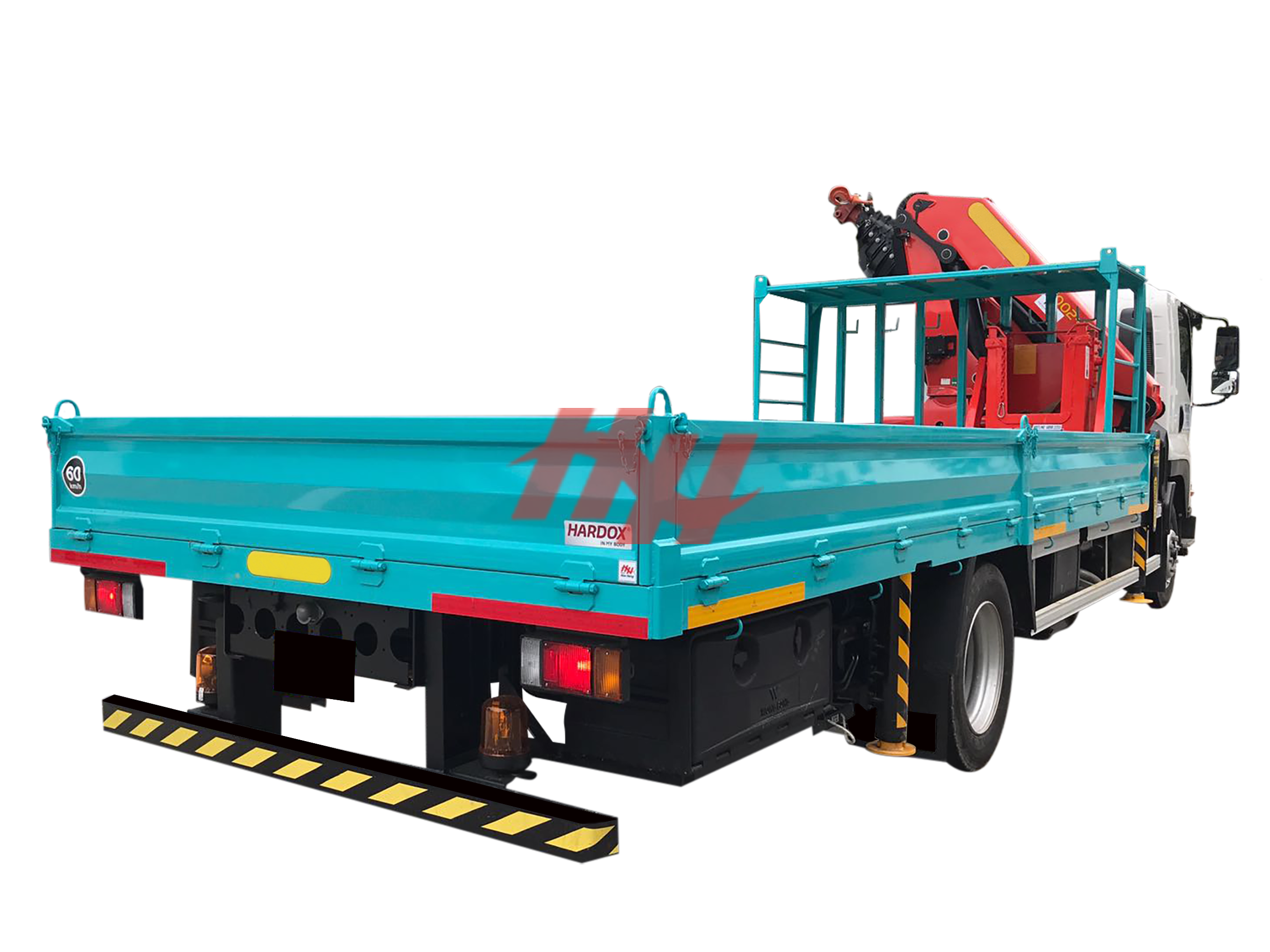 Hardox steel panel body with rear bumper
